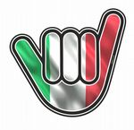 NO WORRIES Hand With Italy Italian il Tricolore Flag Motif External Vinyl Car Sticker 105x100mm